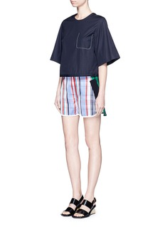 STELLA MCCARTNEY 'Kristelle' mix check print patchwork jogging shorts