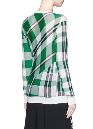Back View - Click To Enlarge - Stella McCartney - Solid check cotton knit sweater