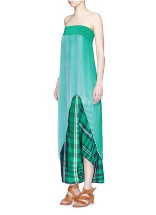 Front View - Click To Enlarge - Stella McCartney - 'Jeanne' plissé pleat crepe georgette dress