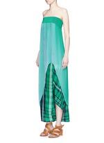 'Jeanne' plissé pleat crepe georgette dress