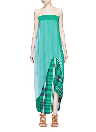 Main View - Click To Enlarge - Stella McCartney - 'Jeanne' plissé pleat crepe georgette dress