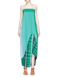STELLA MCCARTNEY'Jeanne' plissé pleat crepe georgette dress