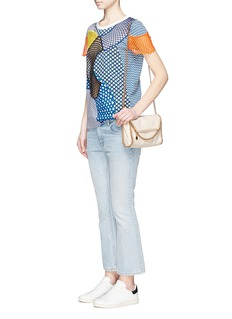 STELLA MCCARTNEY Mix mesh patchwork jersey T-shirt