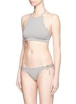 'Mott' scalloped edge bikini top