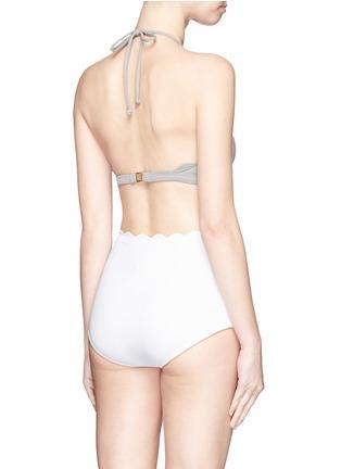 Back View - Click To Enlarge - Marysia - 'Santa Monica' scalloped edge bikini bottoms