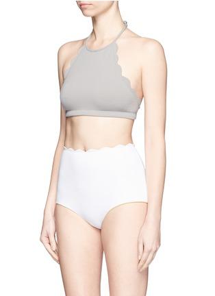 Figure View - Click To Enlarge - Marysia - 'Santa Monica' scalloped edge bikini bottoms