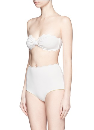Figure View - Click To Enlarge - Marysia - 'Antibes' scalloped bow bandeau top
