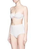 'Antibes' scalloped bow bandeau top