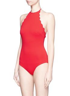 MARYSIA'Mott' scalloped halterneck one-piece swimsuit