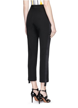 Back View - Click To Enlarge - Maticevski - 'Mason' extended stripe cropped tuxedo pants