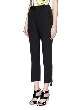 Front View - Click To Enlarge - Maticevski - 'Mason' extended stripe cropped tuxedo pants