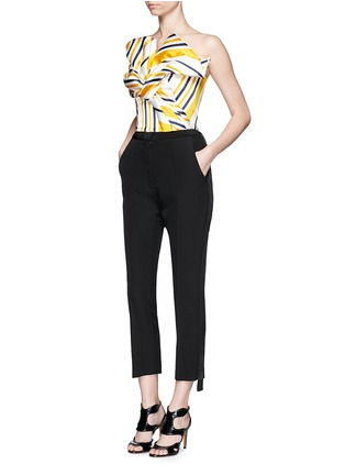 Figure View - Click To Enlarge - Maticevski - 'Mason' extended stripe cropped tuxedo pants
