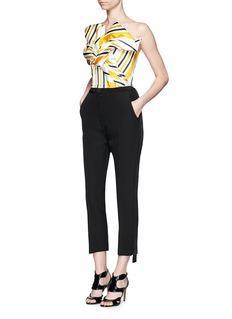 MATICEVSKI'Mason' extended stripe cropped tuxedo pants