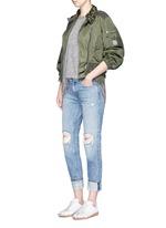 'Gereba' floral embellishment asymmetric zip jacket