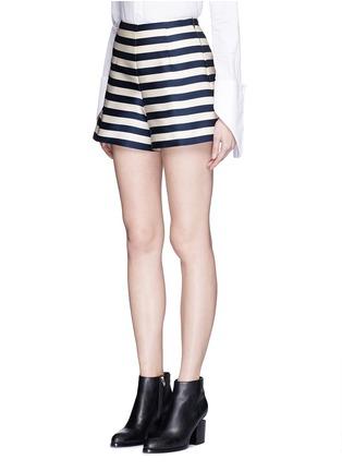 Moncler-Duchesse satin Bermuda shorts