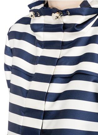 Moncler-'Corail' stripe duchesse satin jacket