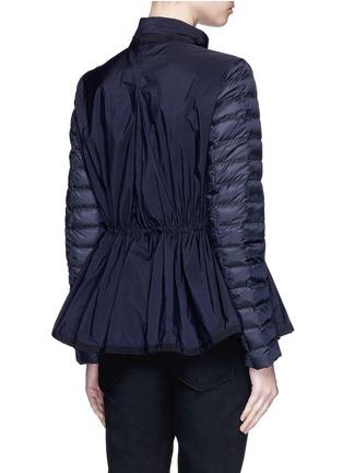 背面 - 点击放大 - MONCLER - Grenouille拼接设计喇叭衣摆羽绒夹克