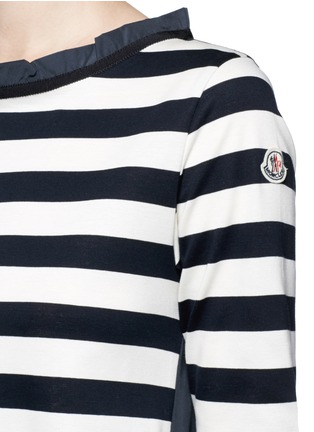 Detail View - Click To Enlarge - Moncler - Stripe jersey front dress