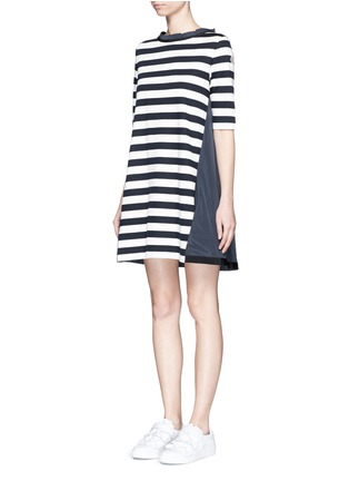 Front View - Click To Enlarge - Moncler - Stripe jersey front dress