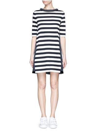 Main View - Click To Enlarge - Moncler - Stripe jersey front dress