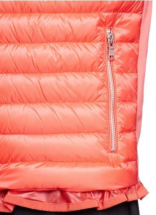 细节 - 点击放大 - MONCLER - Ruffle hem jersey combo down zip jacket