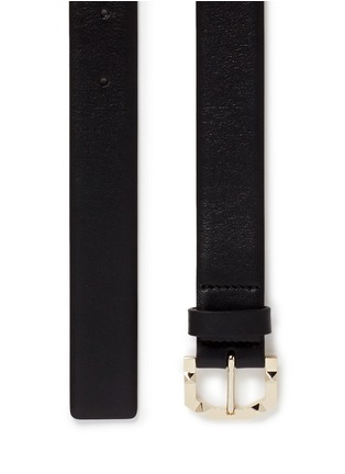 Detail View - Click To Enlarge - Valentino - 'Rockstud' buckle leather belt