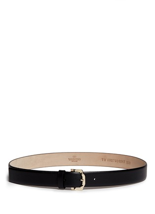 Main View - Click To Enlarge - Valentino - 'Rockstud' buckle leather belt