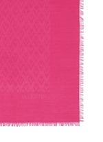 'V' logo jacquard silk-wool scarf