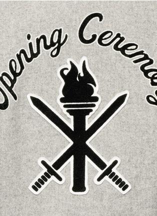 Opening Ceremony-OC' leather sleeve classic varsity jacket