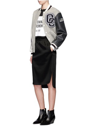 Figure View - Click To Enlarge - Opening Ceremony - OC' leather sleeve classic varsity jacket