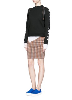 OPENING CEREMONY Check stretch knit pencil skirt