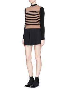 ALEXANDER WANG  Pleat front tailored wool crepe shorts