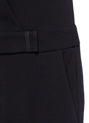 Detail View - Click To Enlarge - Alexander Wang  - Wrap front tailored crepe jumpsuit