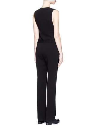 Back View - Click To Enlarge - Alexander Wang  - Wrap front tailored crepe jumpsuit