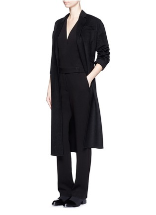 Figure View - Click To Enlarge - Alexander Wang  - Wrap front tailored crepe jumpsuit