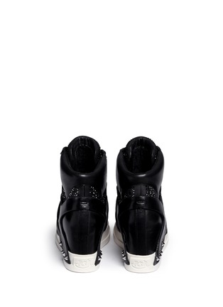 Back View - Click To Enlarge - Ash - 'Club' high top crystal leather wedge sneakers