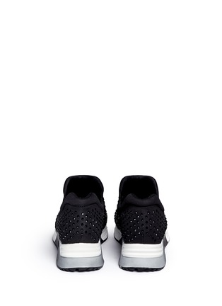 Back View - Click To Enlarge - Ash - 'Lunare' crystal embellished neoprene sneakers