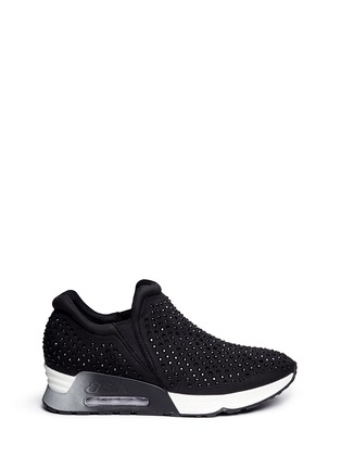Main View - Click To Enlarge - Ash - 'Lunare' crystal embellished neoprene sneakers