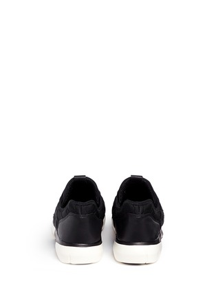 Back View - Click To Enlarge - Ash - 'Saturn' crystal patchwork neoprene slip-on sneakers