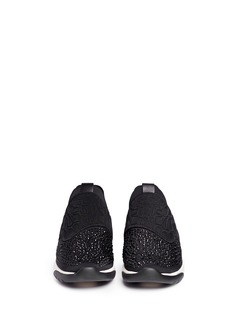 ASH 'Saturn' crystal patchwork neoprene slip-on sneakers