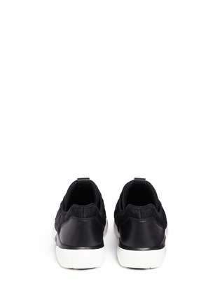Back View - Click To Enlarge - Ash - 'Saturn' crystal patchwork neoprene slip-on sneakers