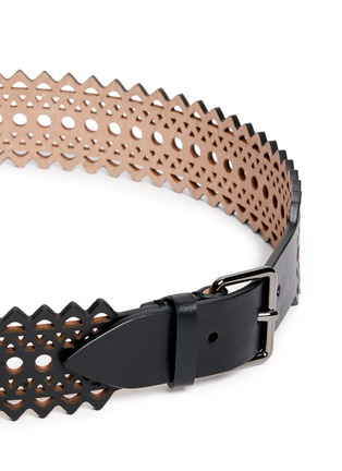Detail View - Click To Enlarge - Alaïa - Vienne' lasercut mini leather belt