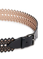 Vienne' lasercut mini leather belt