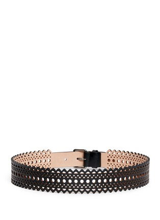 Back View - Click To Enlarge - Alaïa - Vienne' lasercut mini leather belt