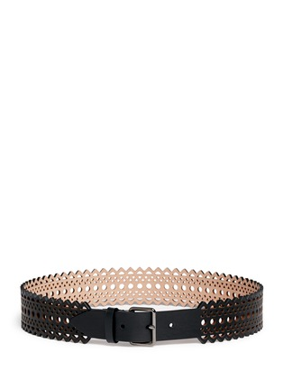 Main View - Click To Enlarge - Alaïa - Vienne' lasercut mini leather belt
