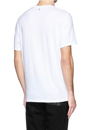 Back View - Click To Enlarge - Neil Barrett - Stretch sculpture print T-shirt