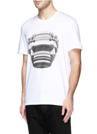 Front View - Click To Enlarge - Neil Barrett - Stretch sculpture print T-shirt