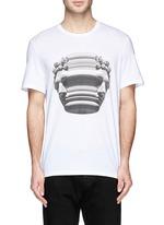 Stretch sculpture print T-shirt