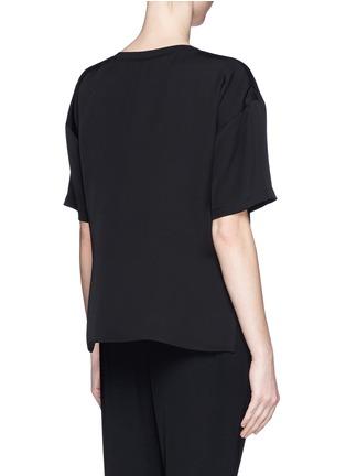 Theory-'Beymia' dip hem silk T-shirt