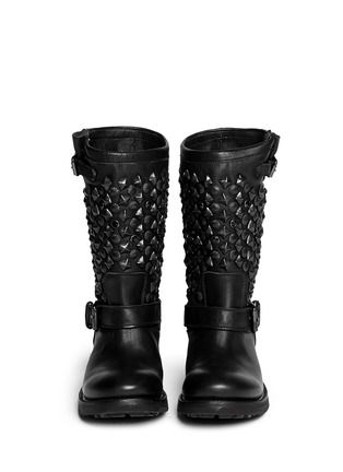 Figure View - Click To Enlarge - Ash - 'Tokyo' stud leather biker boots